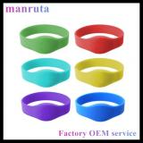 Durable Adjustable MiFARE DeSFire EV1 2K Silicone RFID Wristband HF